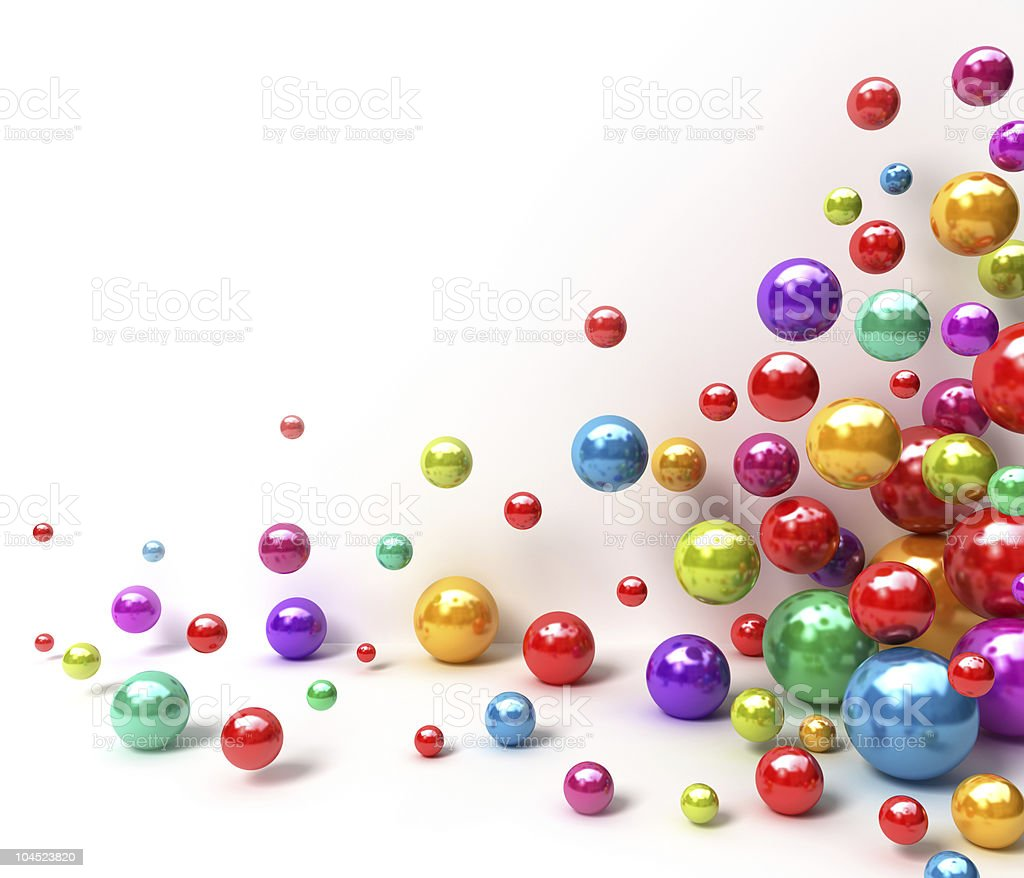Shiny colorful balls stock photo