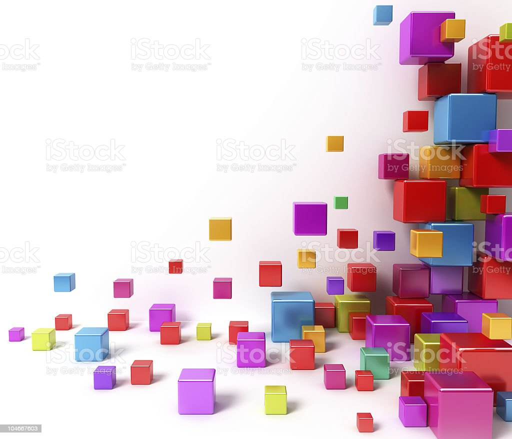 Shiny colorful boxes. Abstract background stock photo