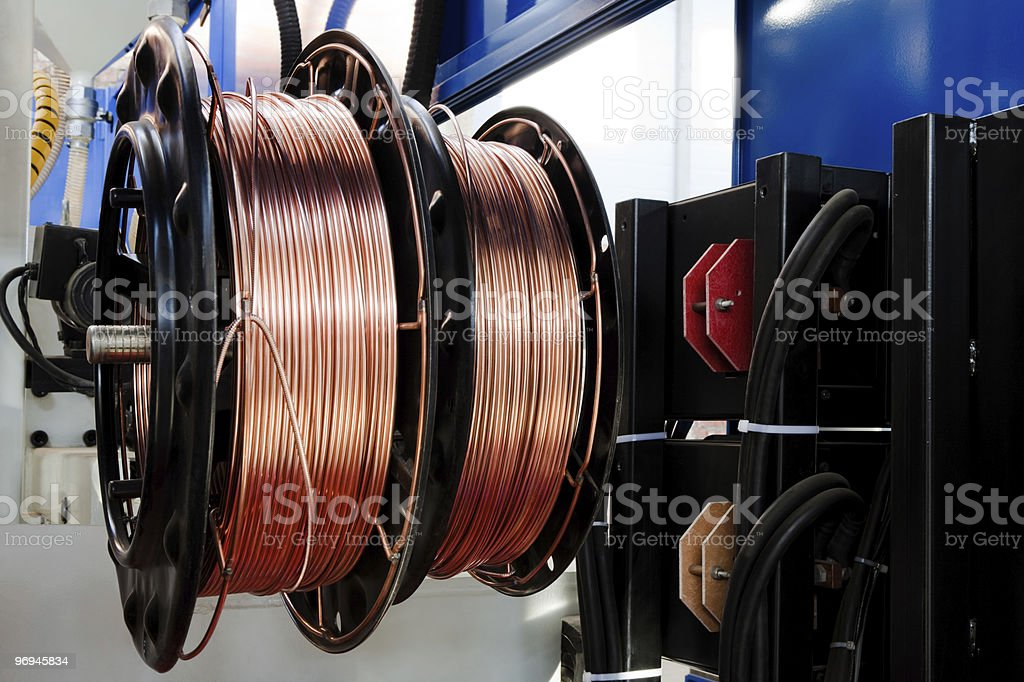 shiny copper wire royalty-free stock photo