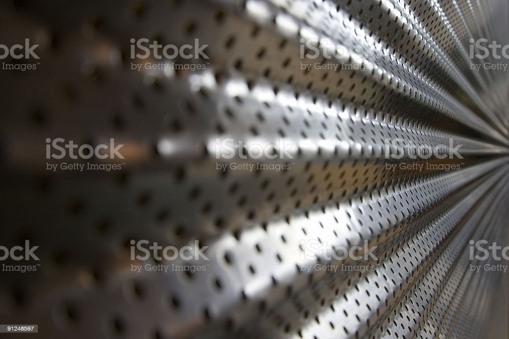 Shiny Corrugated Metal Mesh In Perspective Abstract Background royalty-free stock photo