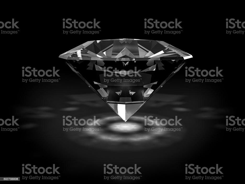 Shiny diamond stock photo