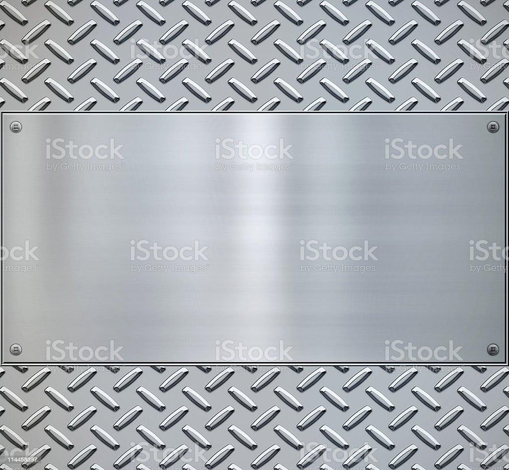 shiny diamond plate metal backgorund stock photo