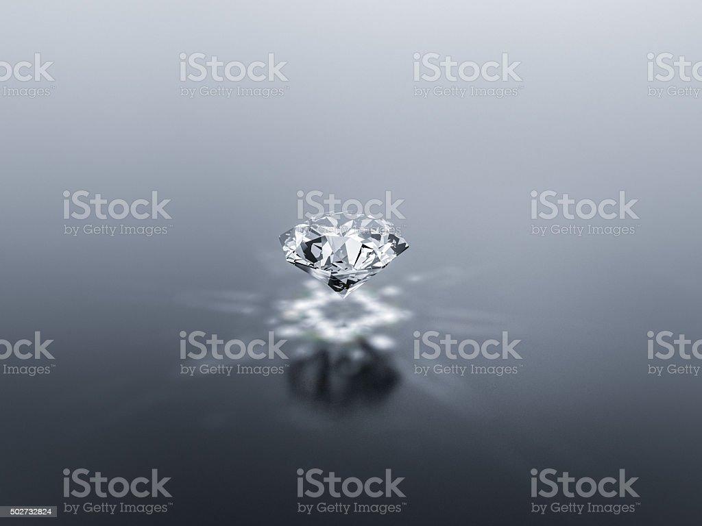 Shiny diamond with bright background stock photo