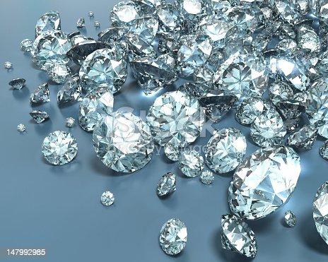 istock Shiny diamonds in various sizes 147992985