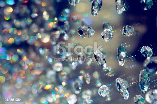 abstract background shot of shiny diamonds.