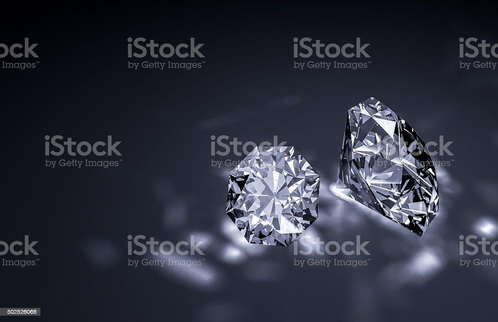 Shiny diamonds stock photo