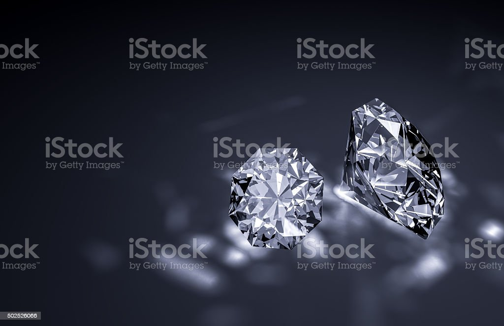 Shiny diamonds stock photo