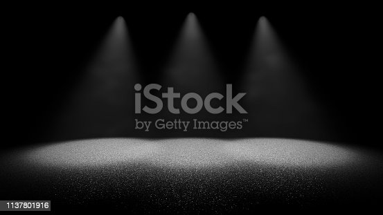 645451374istockphoto shiny glitter background - twinkling glitter on a stage through dusty air lit by three bright spotlights 1137801916