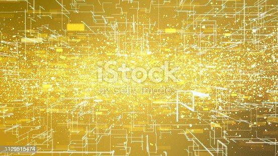 istock Shiny gold background. 1129515474