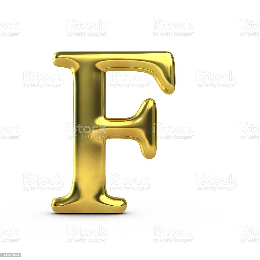 shiny gold capital letter f stock photo more pictures of alphabet