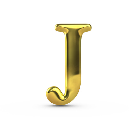 Shiny Gold Capital Letter J Stock Photo - Download Image ...