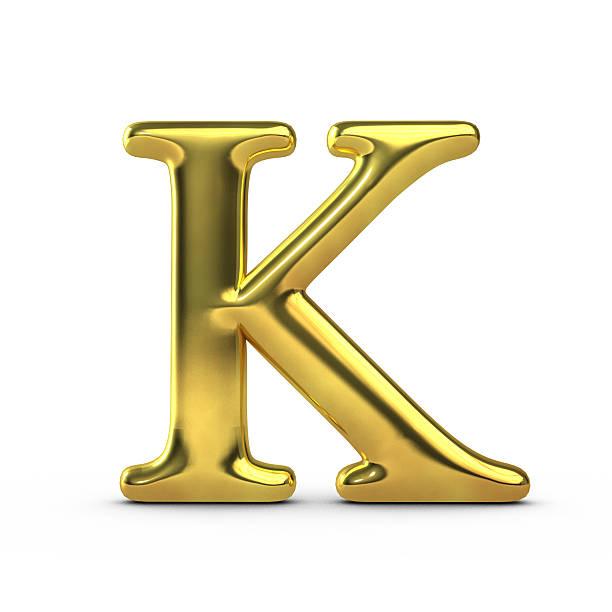 золотой заглавная буква k - буква k стоковые фото и изображения