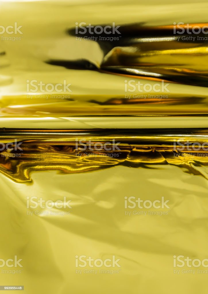 Shiny gold foil for printing work , hot foil ,texture background