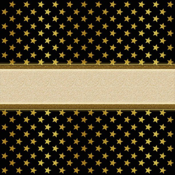 shiny golden and black background with star shapes - filigree stock photos and pictures
