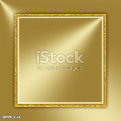Shiny golden background with label for text