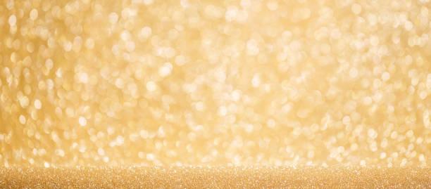 Shiny golden lights background stock photo