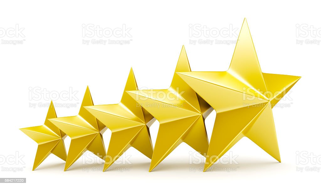 Shiny golden stars stock photo