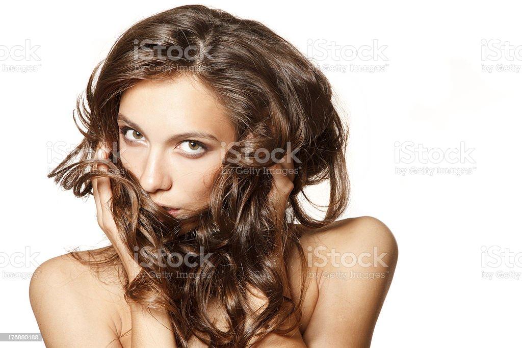 Shiny hair royalty-free stock photo