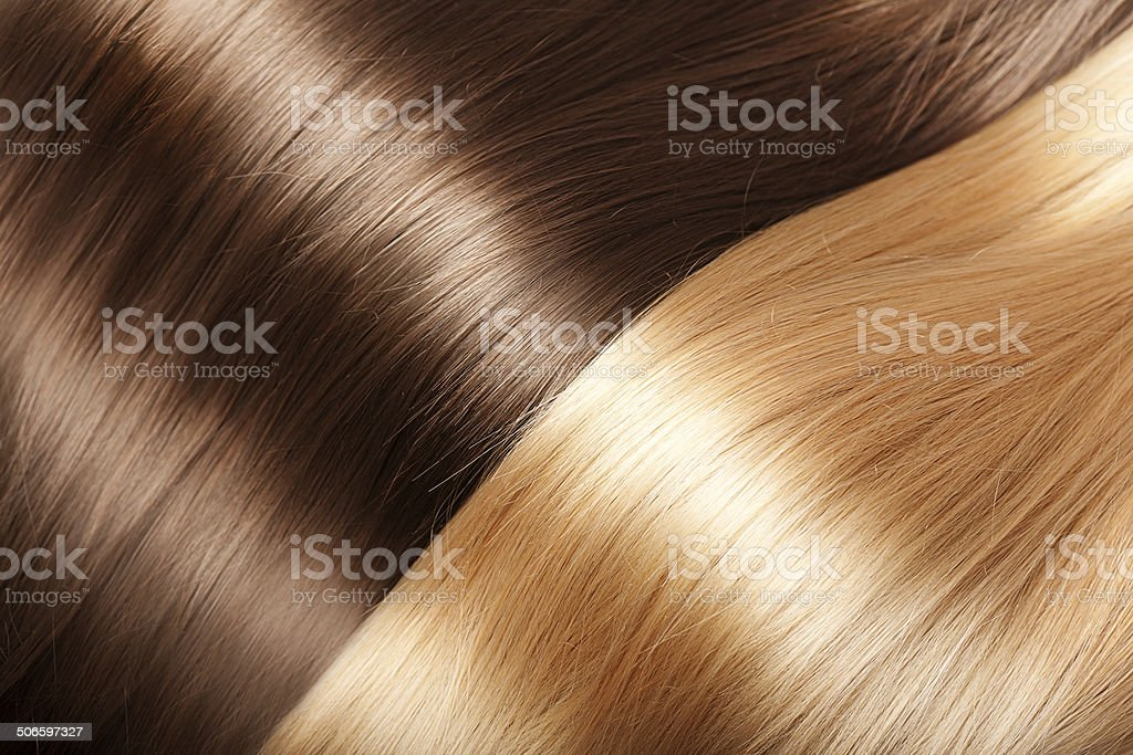 Shiny hair texture stock photo