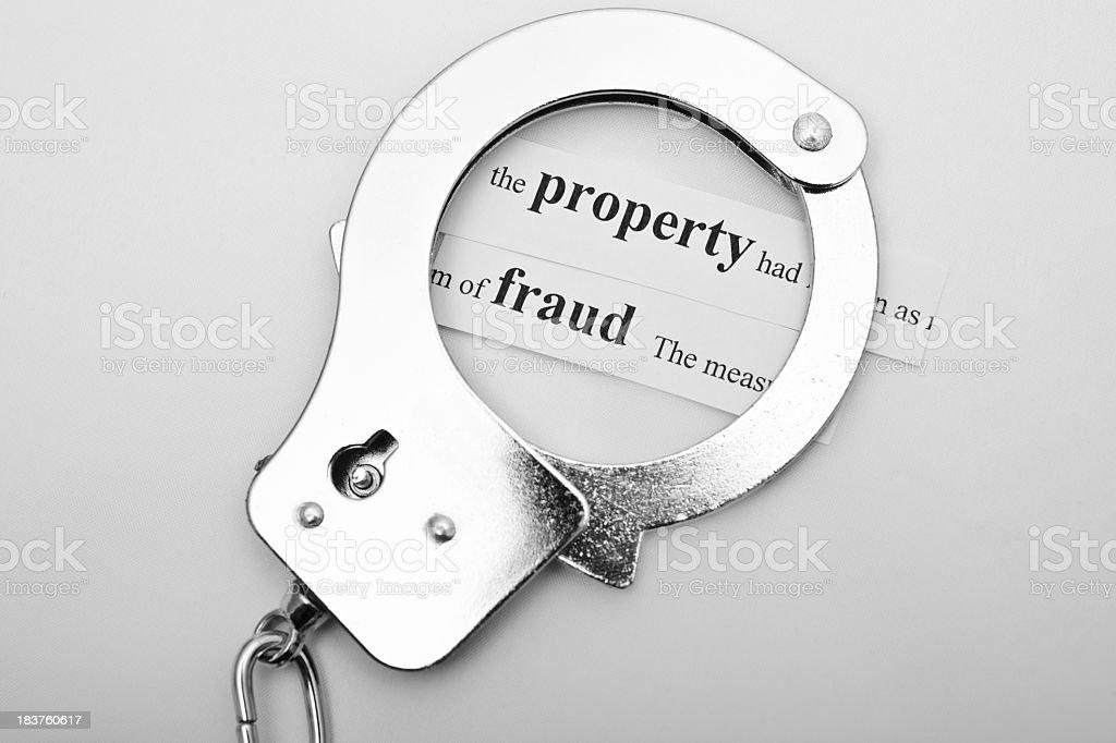 shiny handcuff stock photo