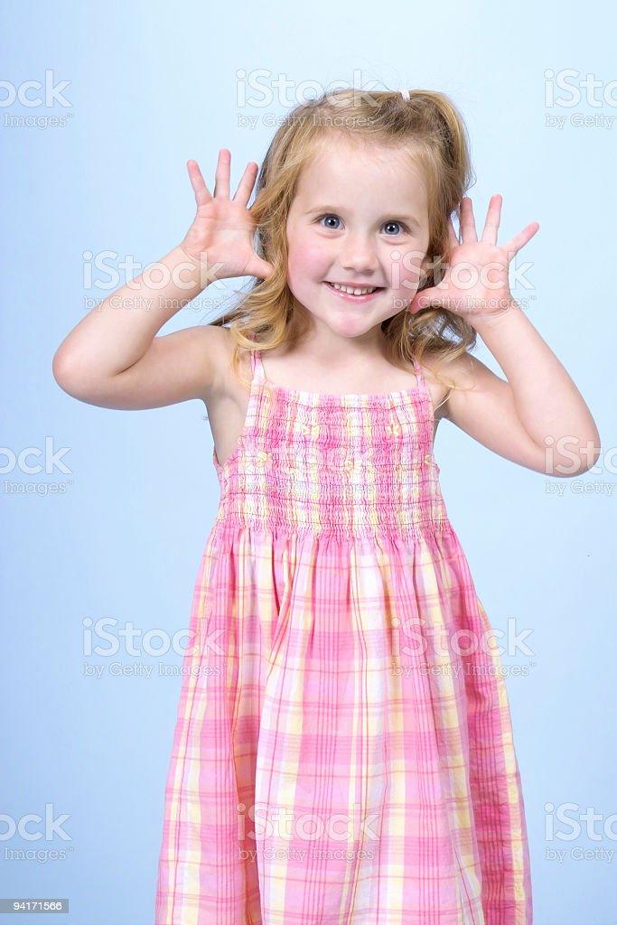 Shiny Happy Little Girl royalty-free stock photo
