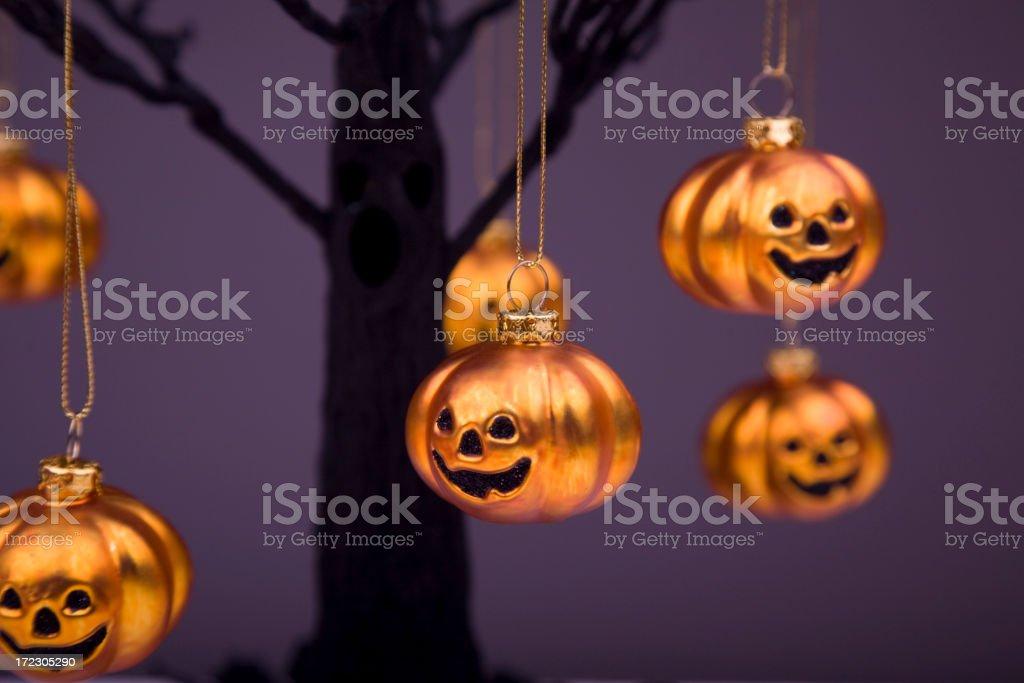 Shiny Happy Pumpkins stock photo