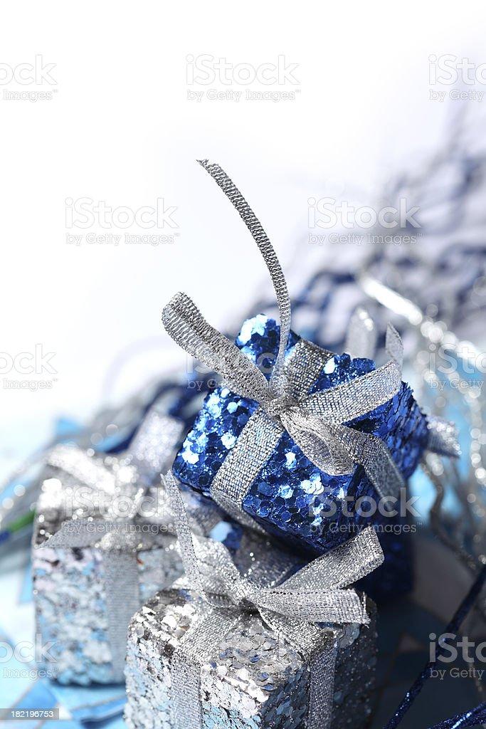Shiny Holiday Presents royalty-free stock photo
