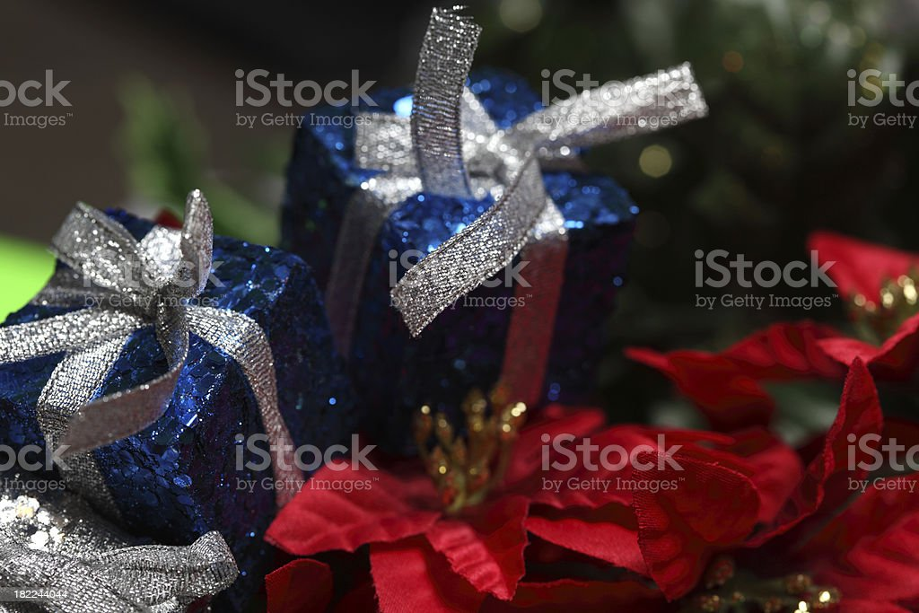 Shiny Holiday Presents stock photo