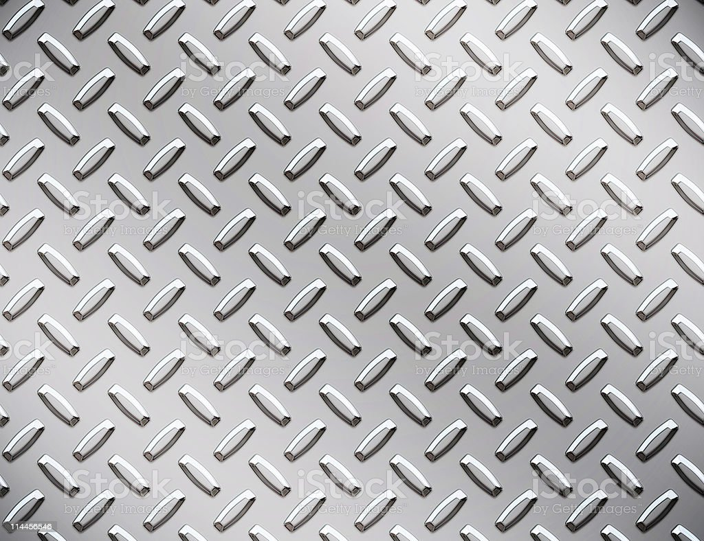 shiny industrial steel metal diamond or tread plate background royalty-free stock photo