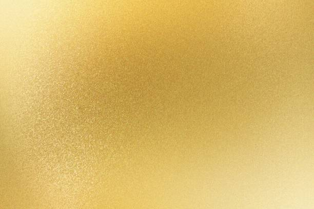 shiny light gold metallic sheet, abstract texture background - gold stock pictures, royalty-free photos & images