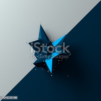 687269072istockphoto Shiny low poly object 1043233186