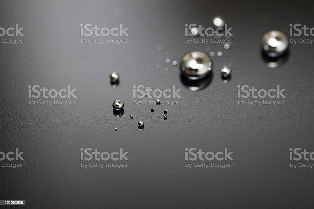 Shiny Mercury stock photo