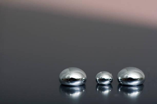 shiny mercury - mercury metal stock photos and pictures