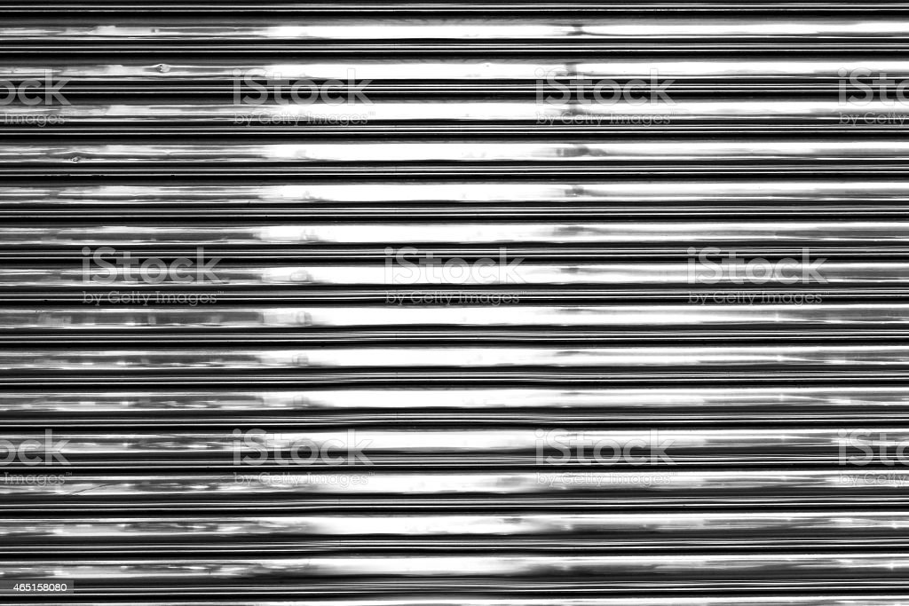 Shiny metal wall stock photo