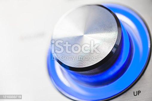istock Shiny metallic volume control knob 1210033719