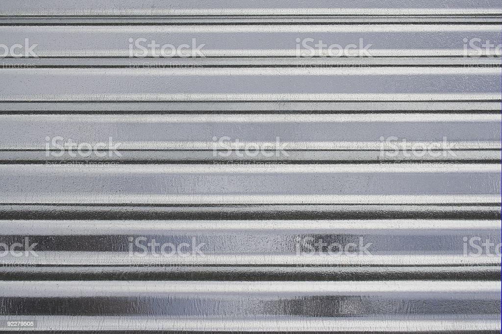Shiny New Galvanised Corrugated Roofing Sheets royalty-free stock photo