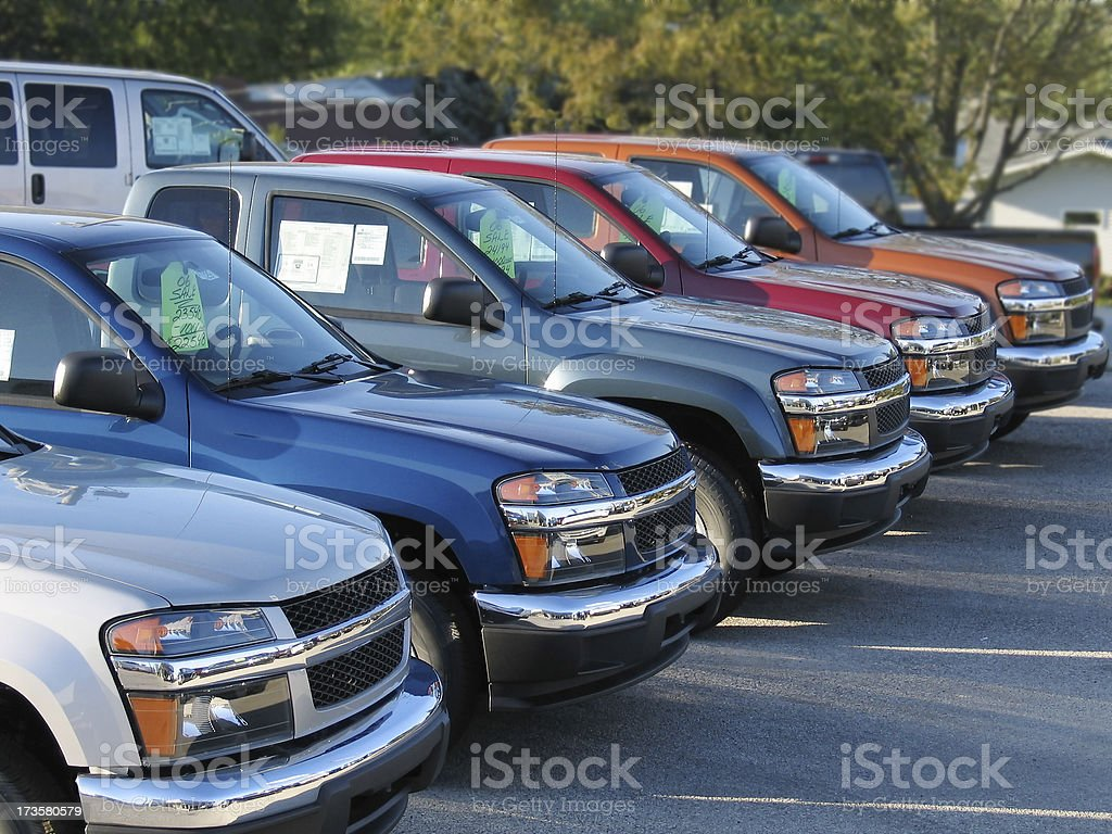 Shiny New Trucks royalty-free stock photo