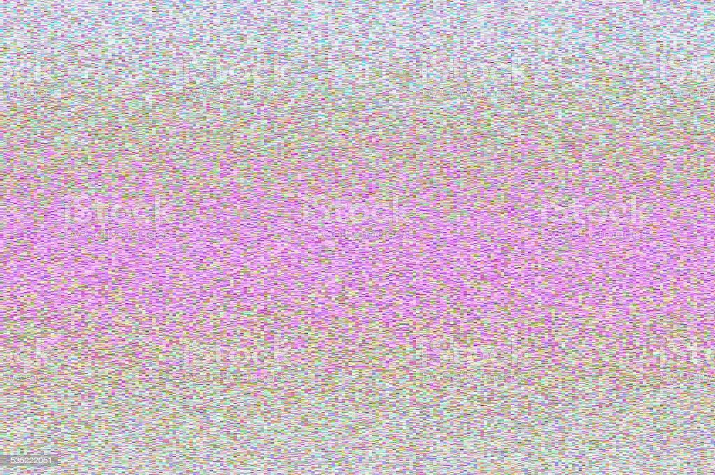 Shiny pixels movement - pale horizontal big blurred stripes. stock photo