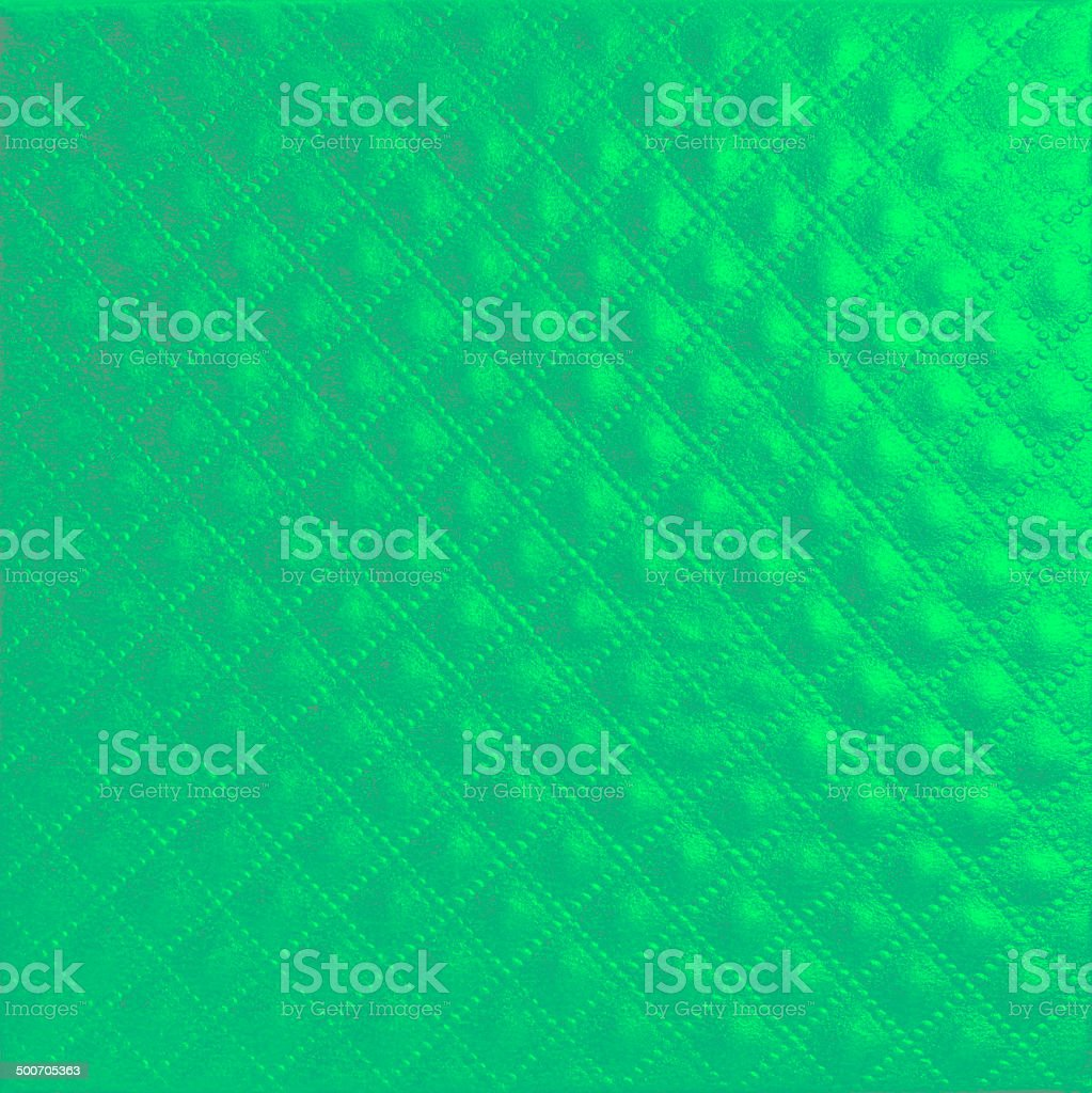 Shiny quilted green and blue paper leather texture royalty-free stock photo
