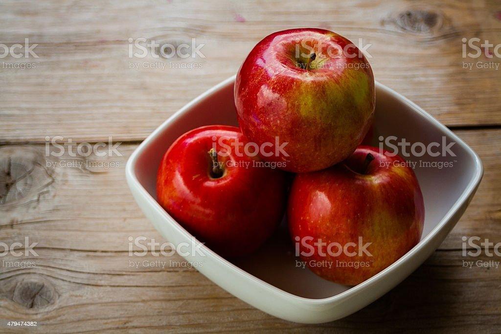 Shiny red Apples stock photo
