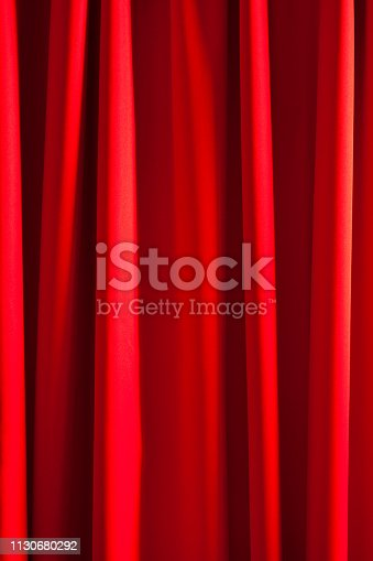 Shiny red silk curtain background