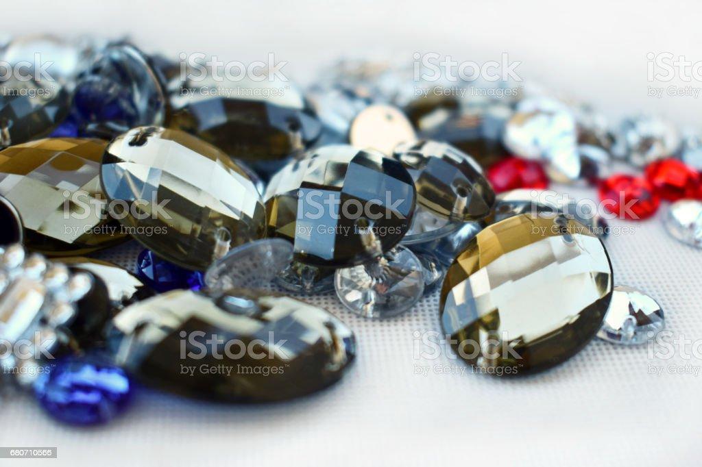 Shiny rhinestones. stock photo