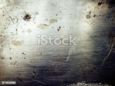 istock Shiny scratched metal surface close up 874903688
