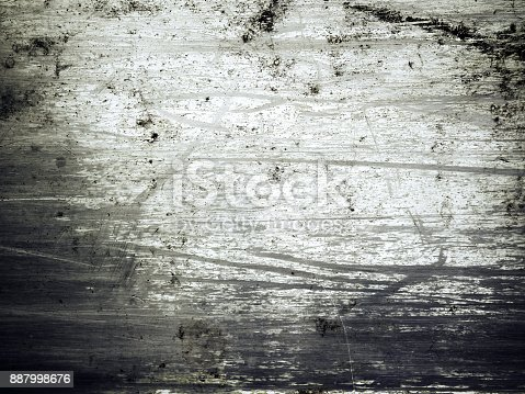 istock Shiny scratched metal surface close up 887998676