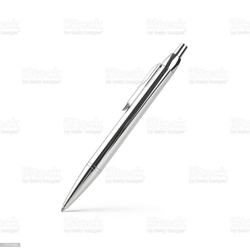 Shiny silver pen royalty-free stock photo
