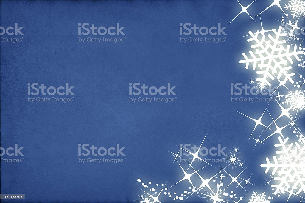 Shiny snowflakes border stock photo