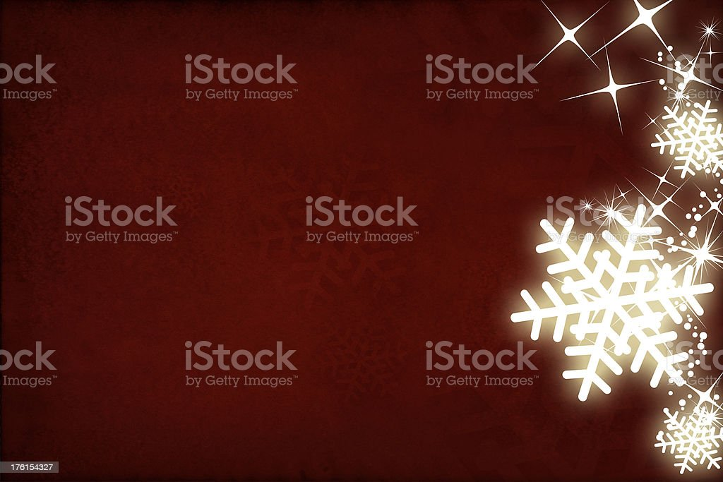 Shiny snowflakes stock photo