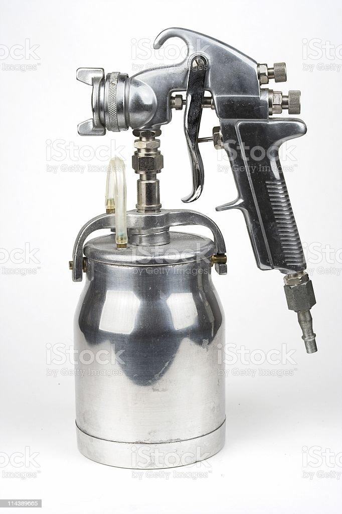 Shiny Spray Gun royalty-free stock photo
