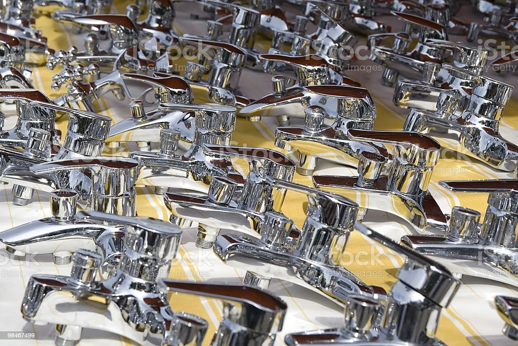 Shiny Water-taps royalty-free stock photo