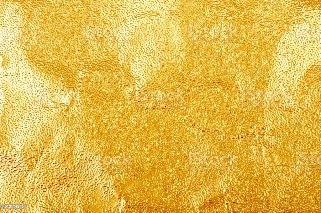 shiny yellow leaf gold foil texture royalty free stock photo
